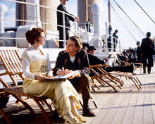 This is an image of 228544 Leonardo Dicaprio & Kate Winslet Photograph & Poster