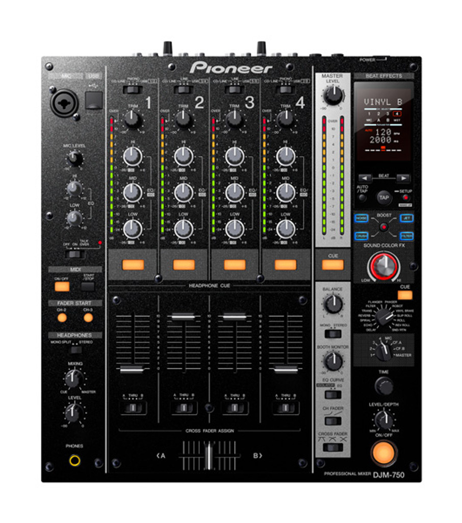 Pioneer DJM750 Performance 4 Channel Professional Digital DJ Mixer DJM 750