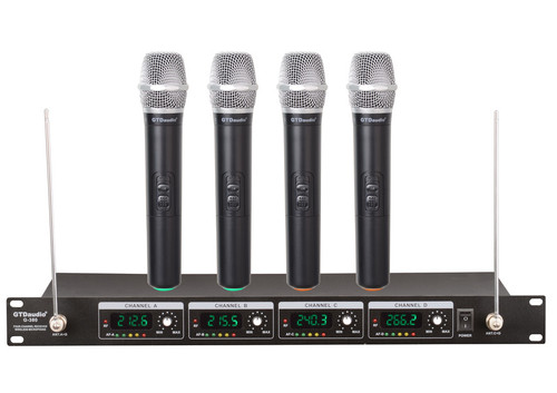 4 Channel 4 Handheld Mic PROFESSIONAL UHF WIRELESS MICROPHONE SYSTEM