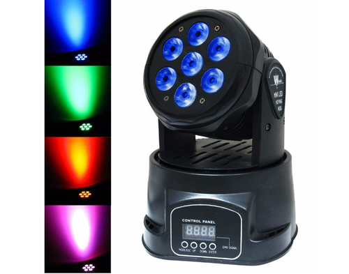 70W DMX-512 Mini Moving Head Light RGBW