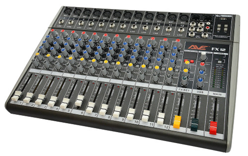 AVE Strike-FX12 PA Mixer with FX and USB 6 Channel