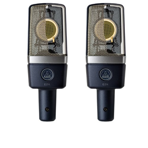 AKG C214 Matched Pair Professional Large Diaphragm Condenser Microphones