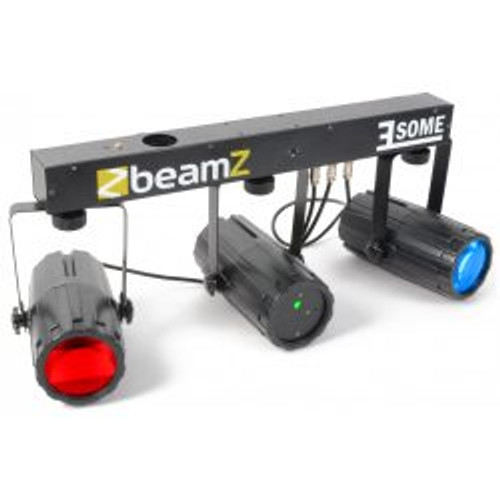 Beamz 3Some-Laser LED DJ Light Effect 3-Set with Laser