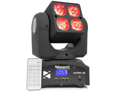 Beamz Matrix22 LED Moving Head Wash