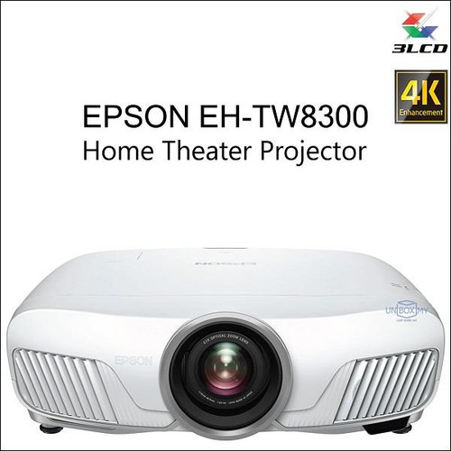 Epson EH-TW8300 LCD Full High Definition 3D Home Cinema Projector