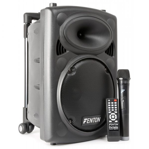 "Fenton FPS10 10"" Portable Speaker with Wireless Microphone 150W"