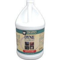 Trophy Animal Health Care Dyne Gallon  Dyne high calorie liquid dietary supplement provides livestock with high levels of calories in a minimum volume. Each ounce of Dyne provides 150 calories for extra energy for peak performance. In addition, each ounce contains proteins and vitamins. The tasty vanilla taste can be top dressed on other foods or mixed with water.  Administer to sheep, pigs and goats at the rate of 3 oz. per day and cattle at the rate of 9 oz. per day.