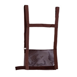 This adjustable nylon harness has all of the same features of the harness above, except in a new beautiful brown color.