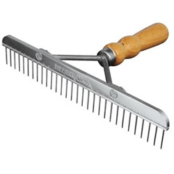 Sullivan Supply Skip Tooth Comb with wooden handle