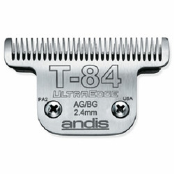 "Detachable steel blades fit all Andis AG, AGC, AGP, AGR+ and AGRC models. Leaves hairs 3/32"" - 2.4mm"
