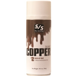 Copper Touch-Up is the final touch-up for covering adhesives and leg builders on medium red hair with a faint brown tint found on Hereford, Red Angus and Light Shorthorn colored cattle. Copper Touch-Up provides excellent coverage, texture and color dimension to enhance your animal's natural hair color. Select single or case and specify quantity below. ALL AEROSOLS MUST BE SHIPPED GROUND.THEY CANNOT GO NEXT DAY, SECOND DAY, OR THIRD DAY AIR.  THEY CANNOT BE SHIPPED INTERNATIONALLY WITH THE U.S. POSTAL SERVICE.