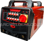 The Matweld TIG315P AC/DC TIG Welder is perfect for TIG welding steels, stainless steels and aluminium.  Features HF (high frequency) start for easy crisp starts, high duty cycle 60% @315amps, pulse function up to 300Hz. Ideal for fabrication, manufacturing and maintenance.
