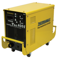 The Thermamax TSA 400i Arc Welder is a light weight industrial welder with advanced inverter technology. Ideal for the manufacturing and mining industry.