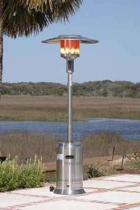 ... Fire Sense Stainless Steel Commercial Patio Heater. Image 1