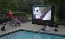 Open Air H-9  Outdoor Home Movie Projector Screen 9x5