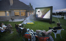 Open Air Cinema Outdoor Home Movie Projector Screen 12x7 H-12