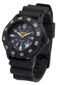 UZI Protector Swiss Tritium Men's Watch - Black -Rubber UZI-001-R