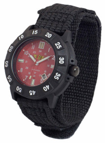 UZI Protector Swiss Tritium Mens Watch - Red - Nylon Strap