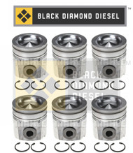 Black Diamond 07.5-15 Dodge 6.7 Cummins .020 Oversize Piston Set