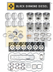 Black Diamond 07.5-15 Dodge 6.7 Cummins Engine Rebuild Kit with Pistons