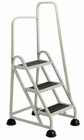 Cramer 1031R-19 Three Step Stop-Step Rolling Stair Ladder with Right Handrail