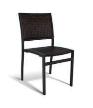 Gar Bayhead Woven Outdoor Stacking Side Chair