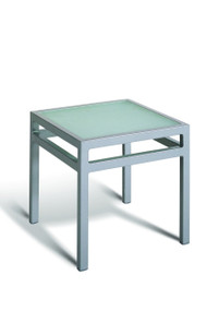 Gar Bayhead Tempered Glass Square Outdoor End Table