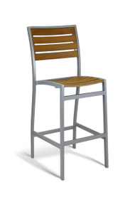 Gar Bayhead Synthetic Teak Outdoor Bar Stool with Arms