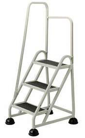 Cramer 1031L-19 Three Step Stop-Step Rolling Stair Ladder with Left Handrail