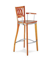 Gar 1660 Series Barstool with Arms and Saddle Seat