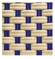 Gar Cream and Blue Woven Nylon