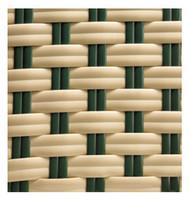 Gar Cream and Green Woven Nylon