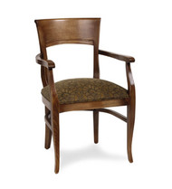 Gar Series 1840 Arm Chair with Padded Seat