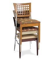 Gar Series 269 Padded Seat and Grid Back Stack Chair