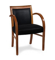 Gar Series 355 Wrap Side Arm Chair with Padded Seat and Padded Back