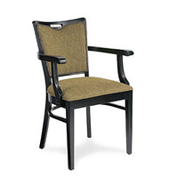 Gar Series 423 Arm Chair with Padded Seat and Padded Nailed Back