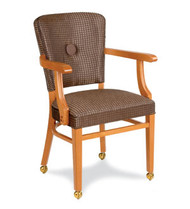 Gar Series 424 Wrap Side Arm Chair with Padded Seat and Over Upholstered Back