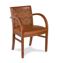 Gar Series 356 Wrap Side Arm Chair with Padded Seat and Padded Back