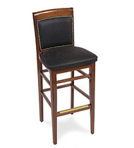 Gar Series 379 Pull Over Seat and Padded Nailed Back Barstool