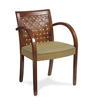 Gar Series 350 Wrap Side Arm Chair with Padded Seat