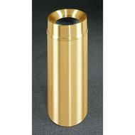 Glaro F1232BE Atlantis Funnel Top Trash Can, 12 x 32, 12 Gallon - Satin Brass