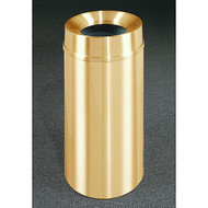 Glaro F1533BE Atlantis Funnel Top Trash Can, 15 x 33, 16 Gallon - Satin Brass