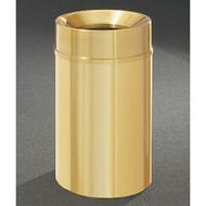 Glaro F2035BE Atlantis Funnel Top Trash Can, 20 x 35, 33 Gallon - Satin Brass