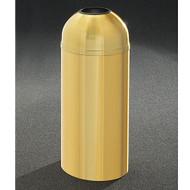 Glaro T1230BE Atlantis Open Dome Top Trash Can, 12 x 30, 8 Gallon - Satin Brass