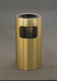 Glaro C1560BE Atlantis Sand Top Ash and Trash Receptacle, 15 x 31, 10 Gallon - Satin Brass