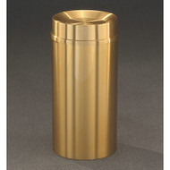 Glaro TA2035BE Atlantis Tip Action Top Trash Can, 20 x 35, 33 Gallon - Satin Brass