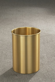 Glaro 922BE  Atlantis Trash Can, 9 x 23, 7 Gallon - Satin Brass
