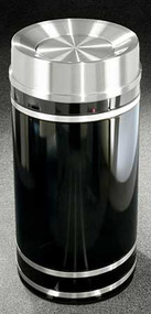 Glaro Monte Carlo Satin Aluminum Tip Action Top Trash Can, 12 x 32, 12 Gallon, TA1256