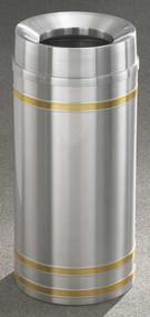 Glaro F1534 Capri Funnel Top Trash Can, 15 x 33, 16 Gallon