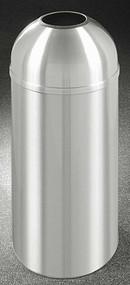 Glaro New Yorker Open Dome Top Trash Can, 15 x 30, 12 Gallon, T1530SA